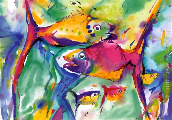 Colorful Fish Painting Colorful Fish