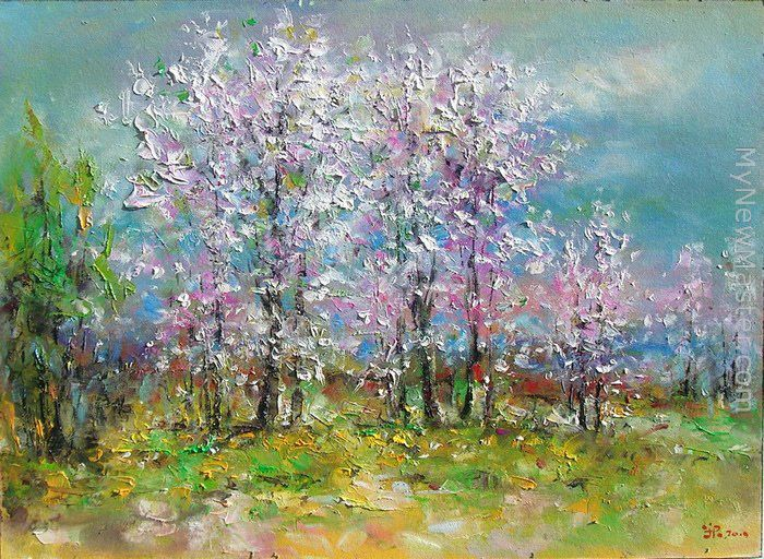 Ioan popei spring landscape painting for Spring canvas paintings