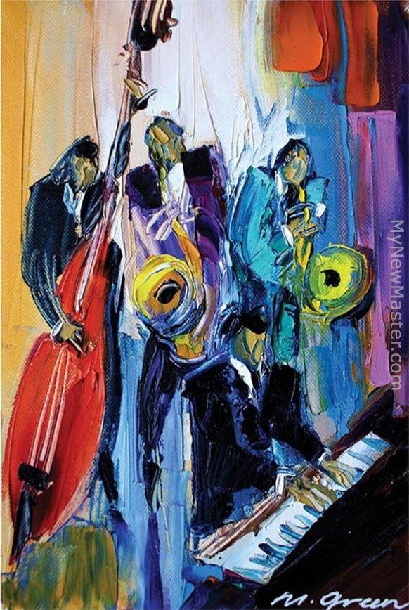 music soul painting famous paintings maya jazz artist artwork guitar artists musicians prints frame framingpainting piano american drawings african violin