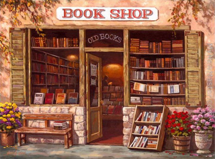 Image result for paintings of books
