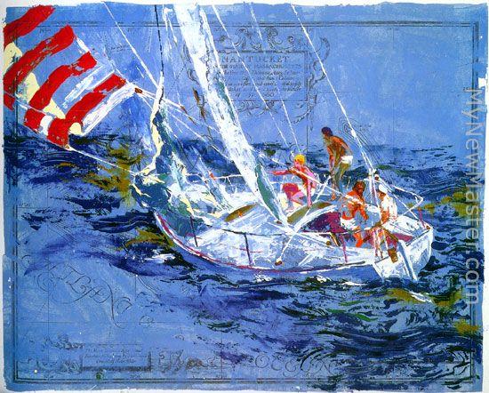 Leroy Neiman Nantucket Sailing Painting