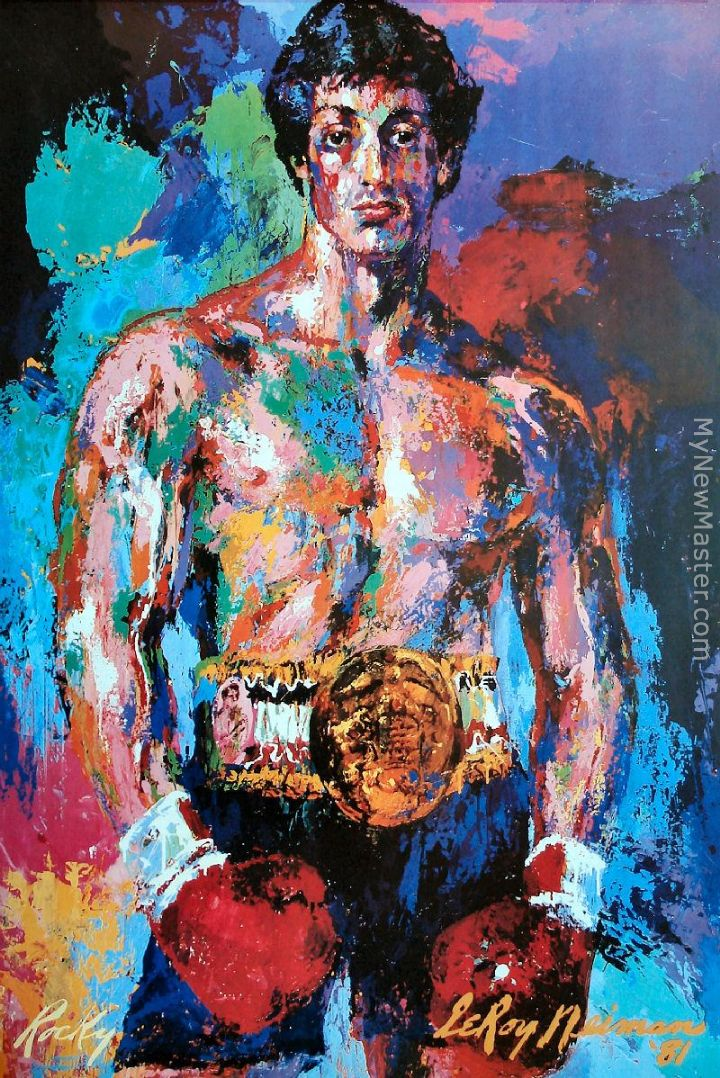 Leroy neiman rocky balboa painting for Prints of famous paintings for sale
